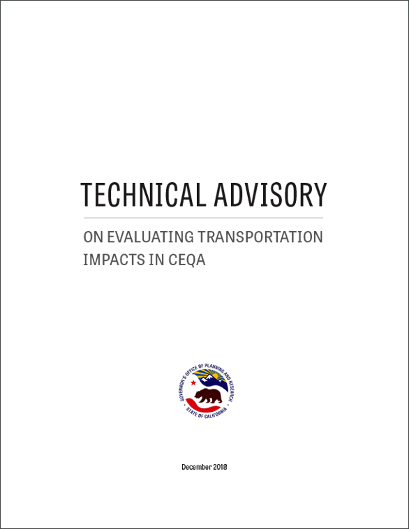 Technical Advisory On Evaluating Transportation Impacts In CEQA